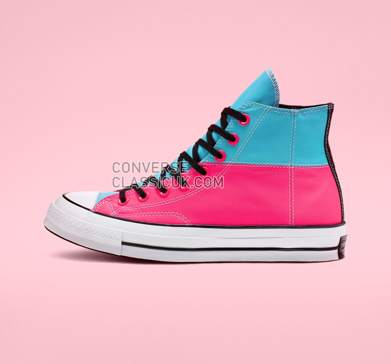 Converse Chuck 70 Get Tubed High Top Mens Womens Unisex 164087C Racer Pink/Gnarly Blue/White Shoes