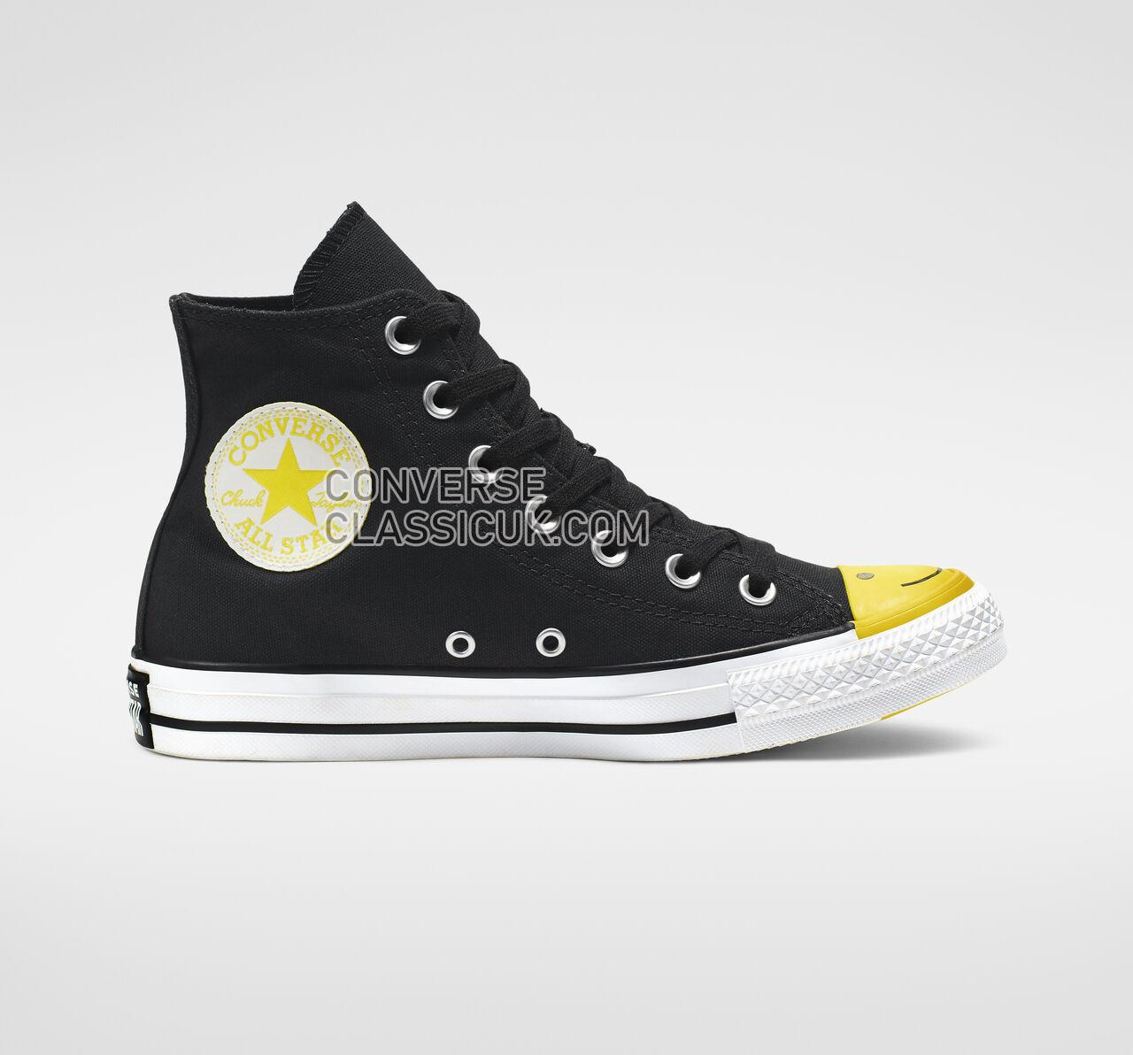 Converse Chuck Taylor All Star Carnival Colorblock High Top Mens Womens Unisex 164423C Black/Fresh Yellow/White Shoes