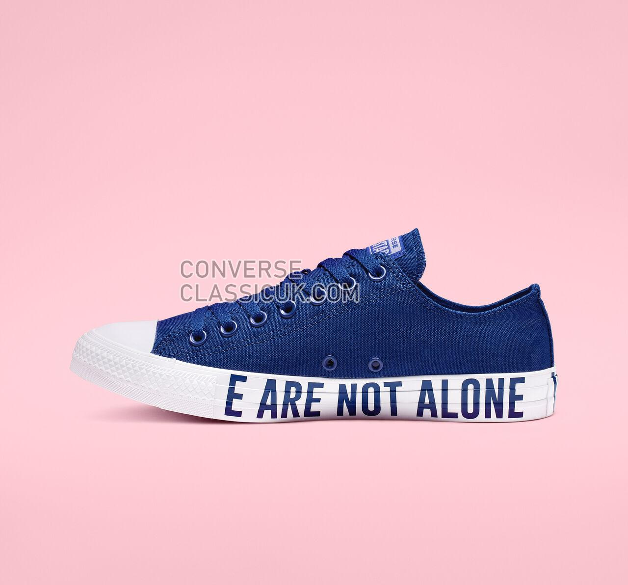 Converse Chuck Taylor All Star We Are Not Alone Low Top Mens Womens Unisex 165383F Blue/Black/Blue Shoes
