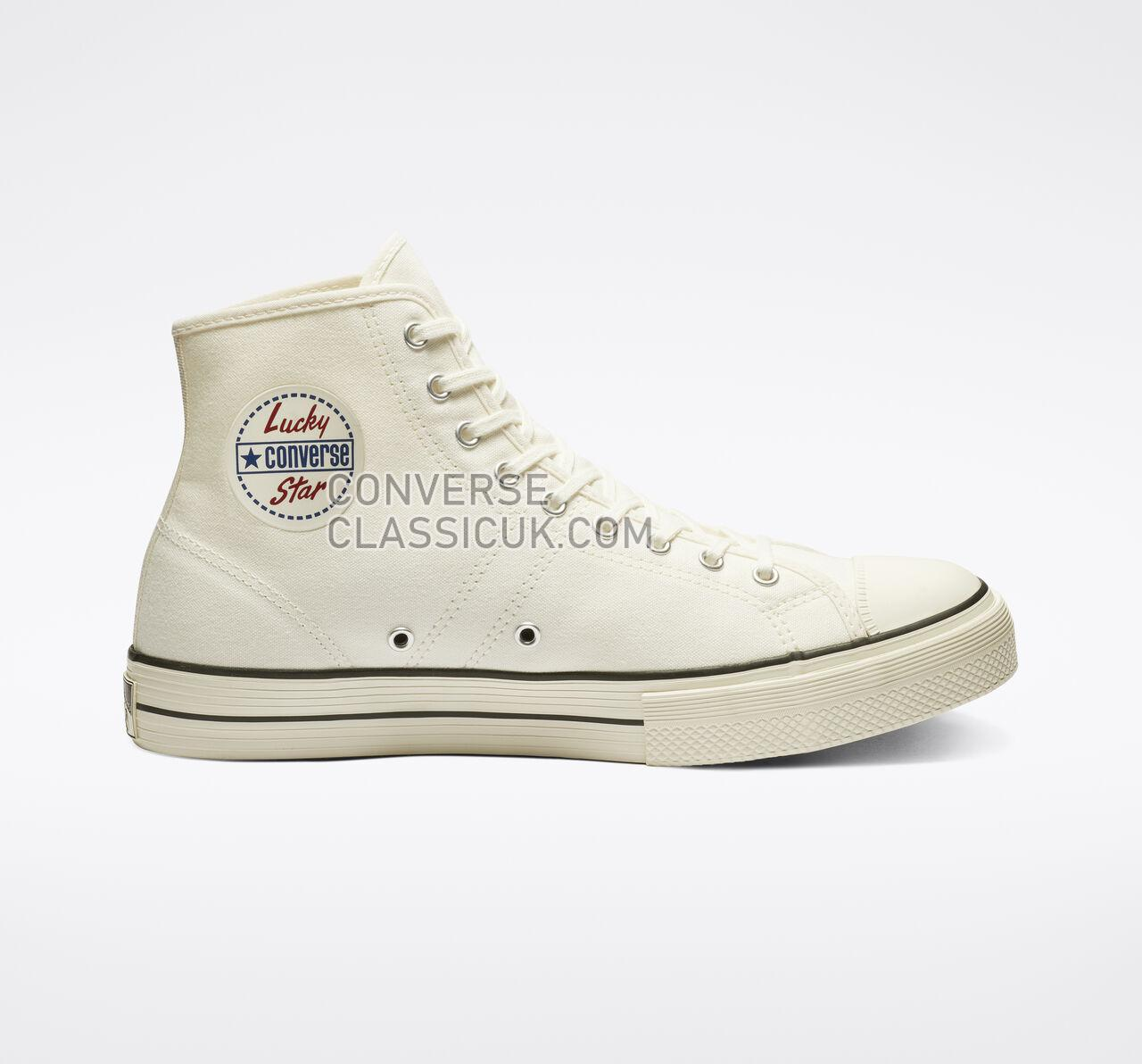 Converse Lucky Star High Top Mens Womens Unisex 163158C Egret/Black/Egret Shoes