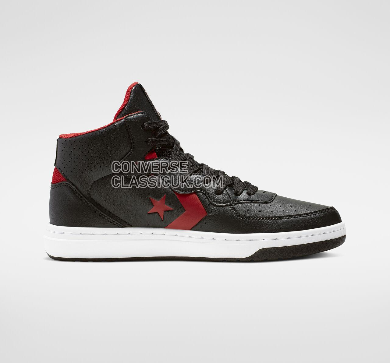 Converse Rival Mid Mens Womens Unisex 164889C Black/Enamel Red/White Shoes