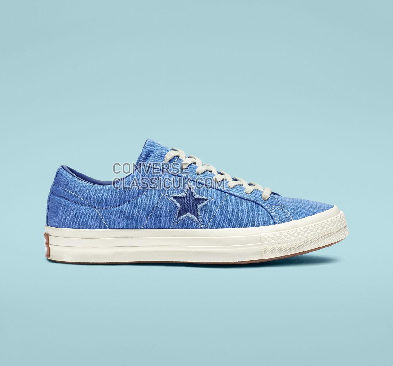 Converse One Star Sunbaked Mens Womens Unisex 164359C Totally Blue/Navy/Egret Shoes