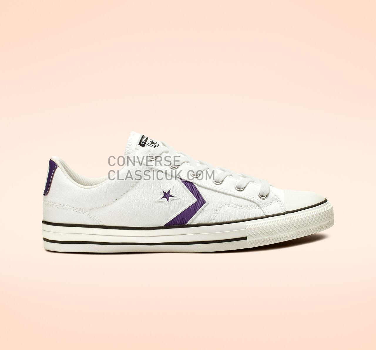 Converse Star Player Summer Sport Low Top Mens Womens Unisex 164402C White/Court Purple/White Shoes