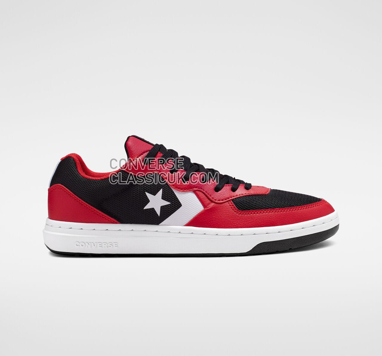 Converse Rival Low Top Mens Womens Unisex 164895C Black/Enamel Red/White Shoes