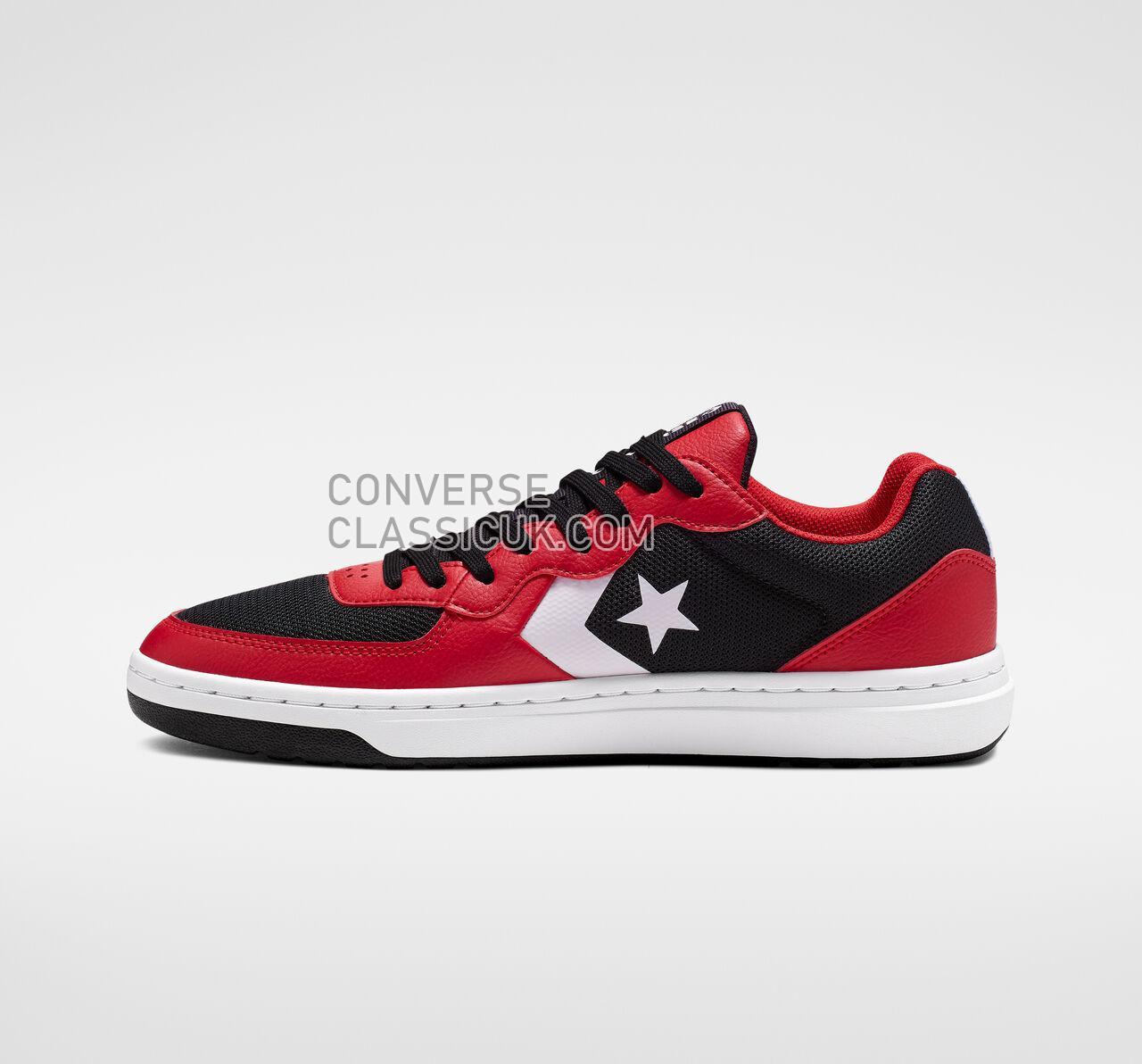 Converse Rival Low Top Mens Womens Unisex 164895C Black/Enamel Red/White Shoes