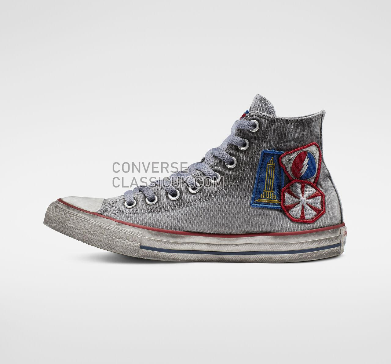 Converse Chuck Taylor All Star Patchwork Smoke High Top Mens Womens Unisex 162900C White/Patchwork Smoke In Shoes