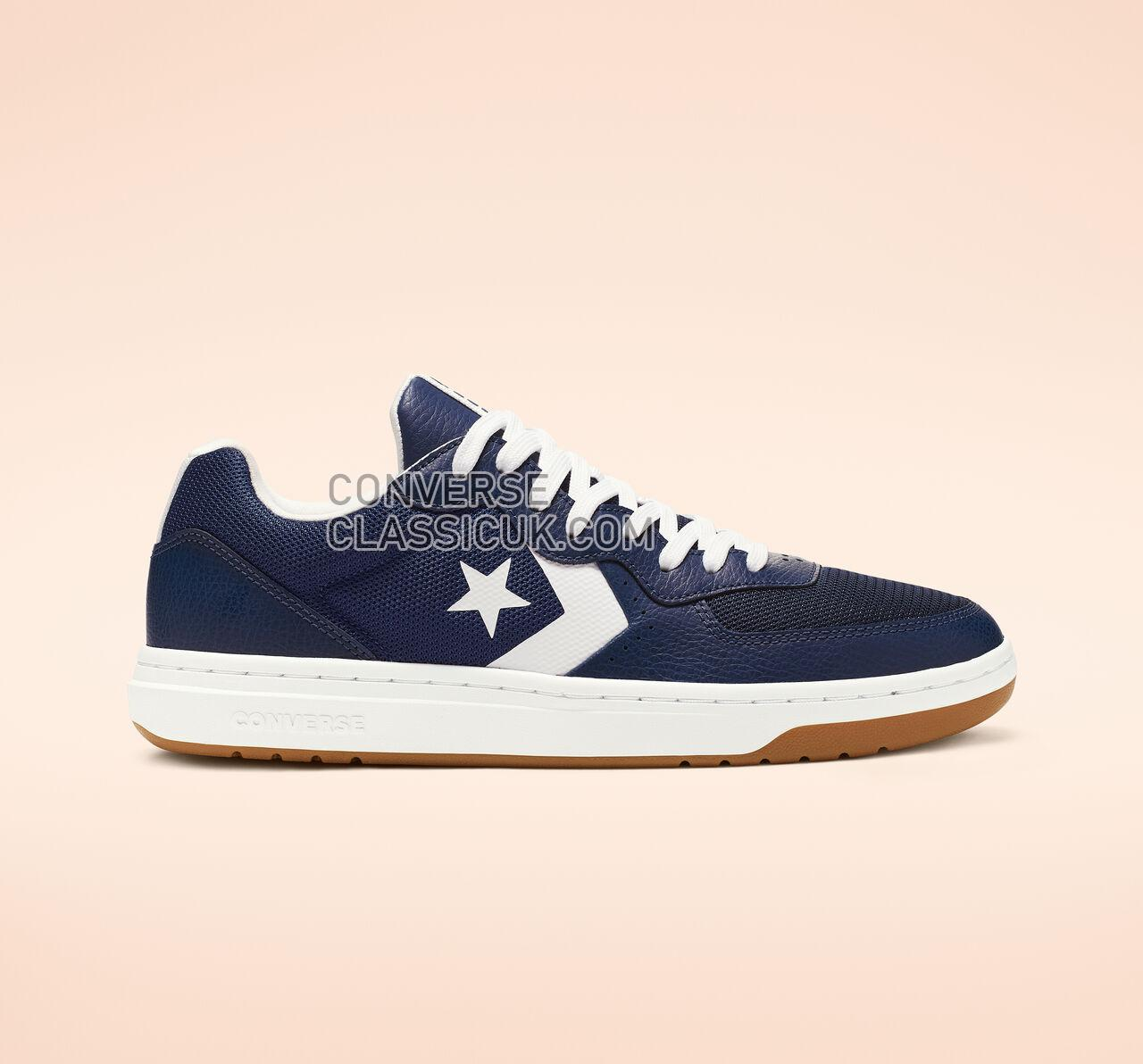 Converse Rival Leather Low Top Mens Womens Unisex 163210C Navy/White/Gum Shoes