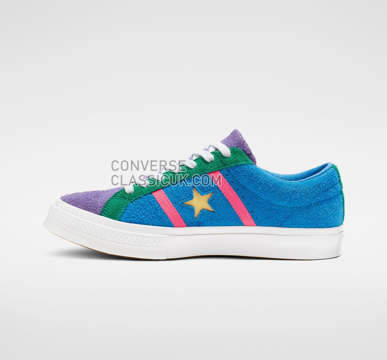 Converse One Star Academy Mens Womens Unisex 164392C Totally Blue/Racer Pink/White Shoes