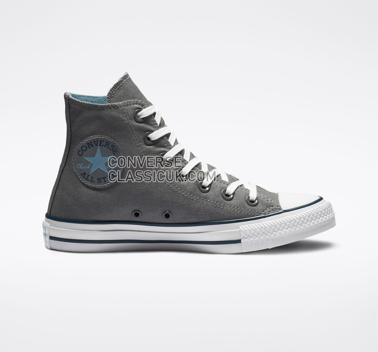 Converse Chuck Taylor All Star Seasonal Color High Top Mens Womens Unisex 162451F Cool Grey/Shoreline Blue Shoes