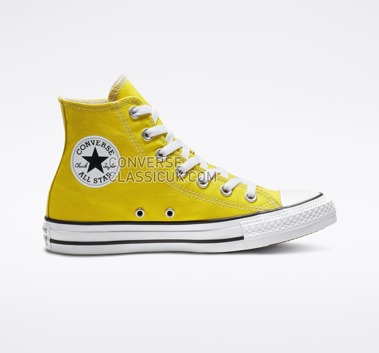Converse Chuck Taylor All Star Seasonal Color High Top Mens Womens Unisex 163353F Bold Citron Shoes