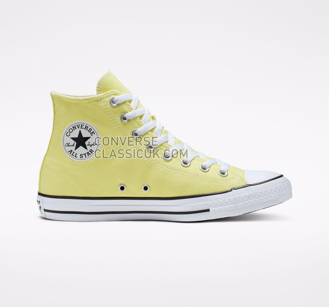 Converse Chuck Taylor All Star Seasonal Color High Top Mens Womens Unisex 165497F Lt Zitron/White/Black Shoes