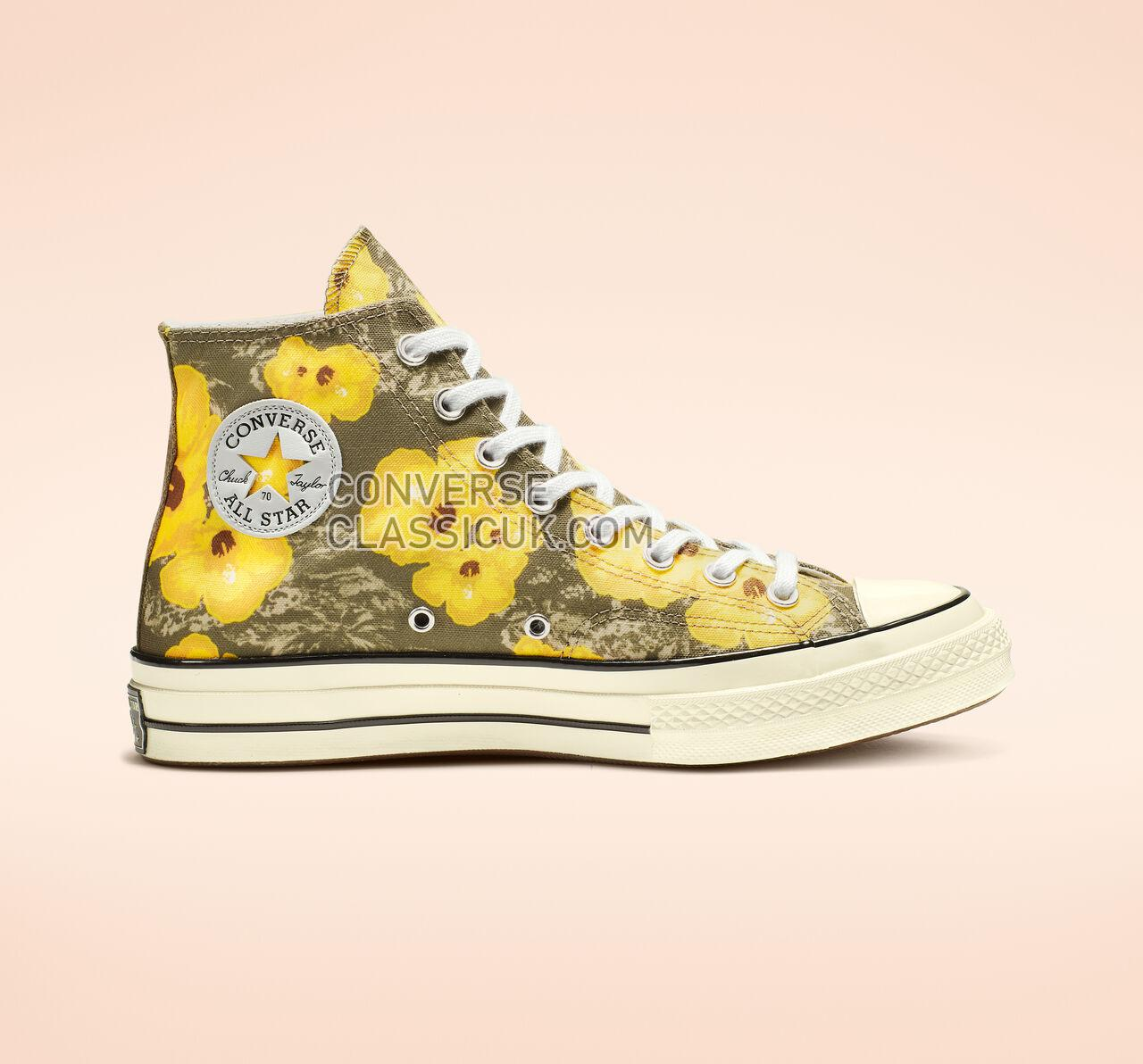 Converse Chuck 70 Paradise Floral High Top Mens Womens Unisex 164076C Field Surplus/Fresh Yellow Shoes