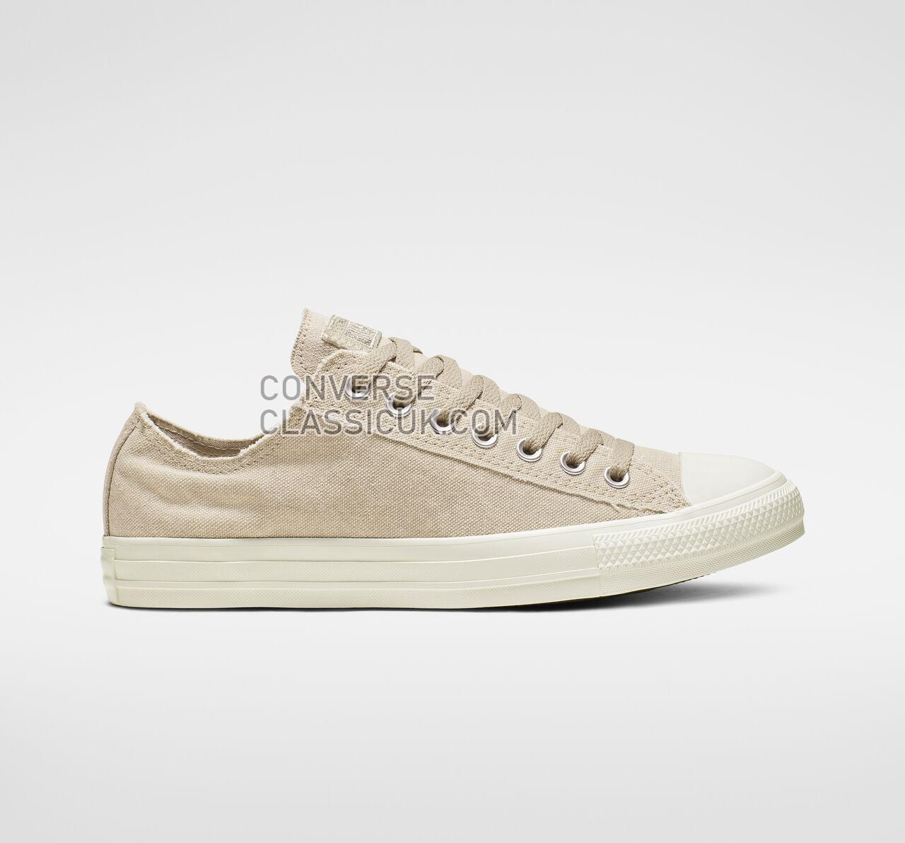 Converse Chuck Taylor All Star Washed Out Low Top Mens Womens Unisex 164098F Papyrus/Egret/Egret Shoes