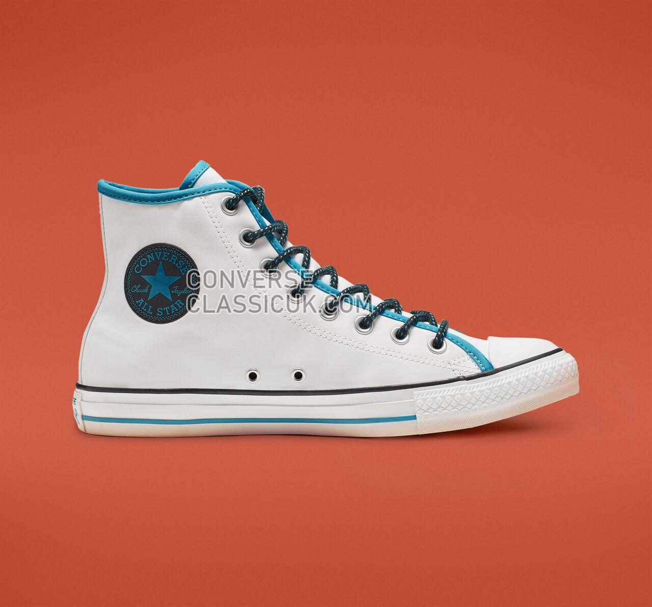 Converse Chuck Taylor All Star Get Tubed High Top Mens Womens Unisex 164091F White/Gnarly Blue/White Shoes