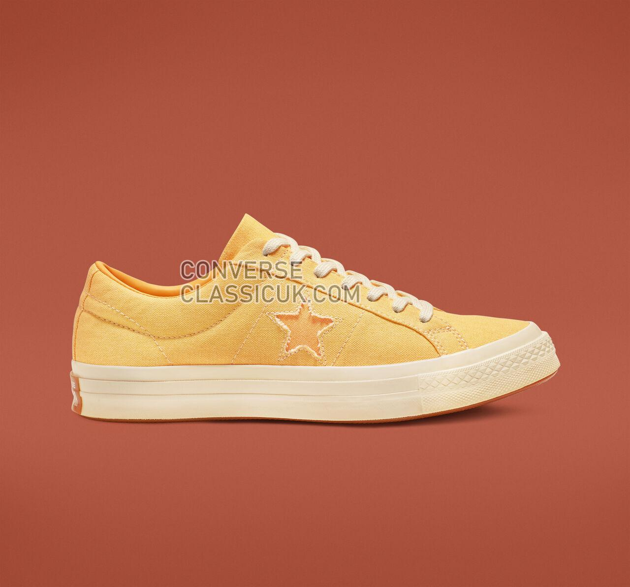 Converse One Star Sunbaked Mens Womens Unisex 164358C Butter Yellow/Melon Baller Shoes