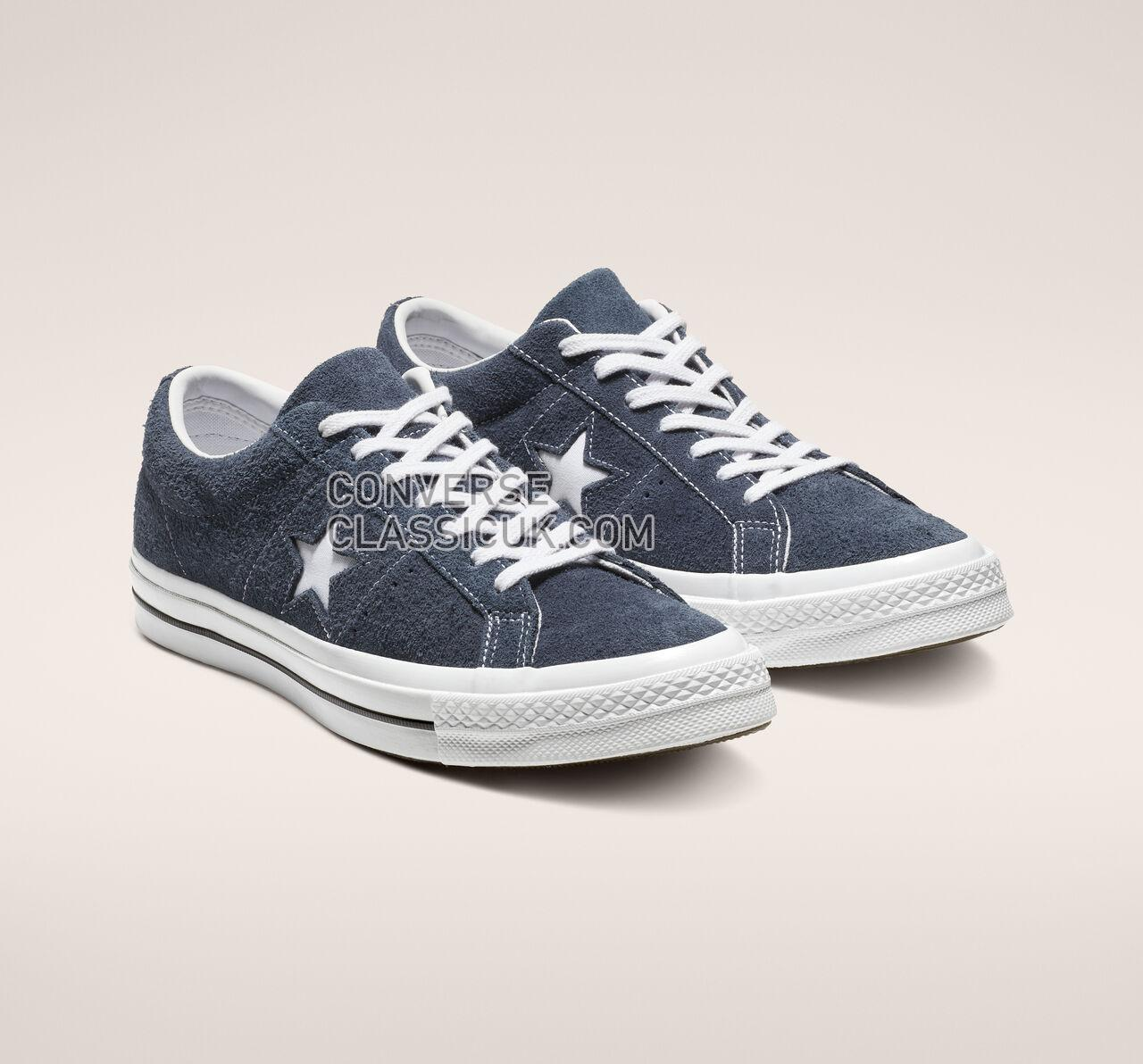 Converse One Star Vintage Suede Low Top Mens Womens Unisex 158371C Navy/White/White Shoes