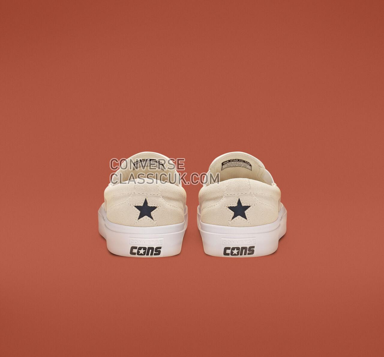 Converse One Star CC Pro Slip Mens Womens Unisex 164155C Egret/Navy/White Shoes
