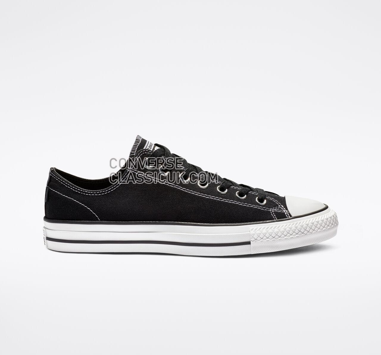 Converse CTAS Pro Low Top Mens Womens Unisex 159576C Black/Black/White Shoes