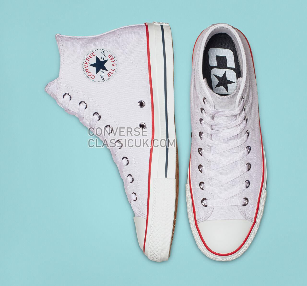 Converse CTAS Pro High Top Mens Womens Unisex 159698C White/Red/Insignia Blue Shoes